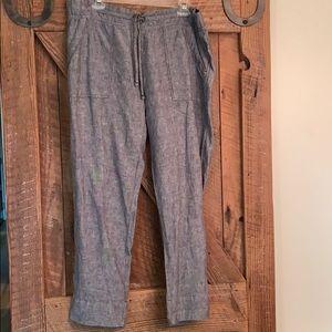 Athleta linen crop pants